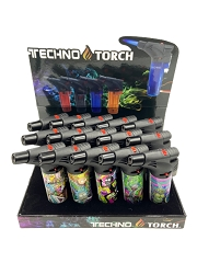 Techno Torch Rick & Morty Designed 1 Flame Torch Lighters 15ct Display Box RM1