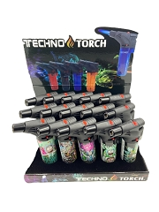 Techno Torch Rick & Morty Designed 1 Flame Torch Lighters 15ct Display Box RM2
