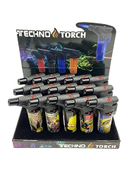 Techno Torch Simpsons Mixed Designed 1 Flame Torch Lighters 15ct Display Box