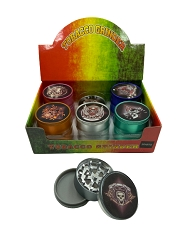 51mm 3 Part Matte Finish Skull Aluminum Grinders (Buy 12ct Display Box for $2.75 each) GR041-MCC