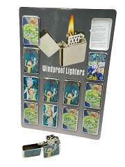 Rick & Morty Mixed Designs Windproof Lighters 12ct Display