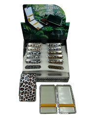 100mm Leopard Design Cigarette Case (Buy 12ct Box $1.99 each)