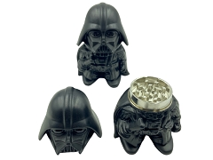 64mm 3 Part Black Darth Vader Metal Grinder