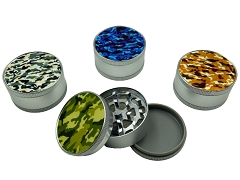 51mm 3 Part Matte CAMO Aluminum Grinder (Buy 12ct Display Box $2.75 each) GR041-MCM