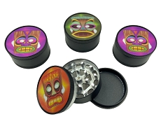 51mm 3 Part Black TIKI Aluminum Grinder (Buy 12ct Display Box $2.75 each) GR041-BTK