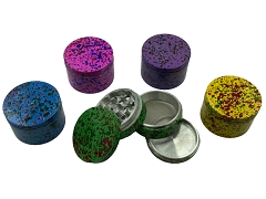 56mm 4 Part Multi Dotted Colored Aluminum Grinder
