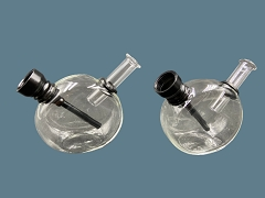 Clear Mini Round Glass Bubbler (Buy 12ct Display Box $3.99 each) XT8558