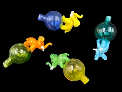 Elephant Top Colored Glass Carb Cap