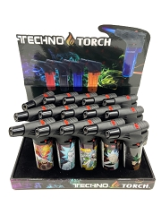 Techno Torch Rick & Morty Designed 1 Flame Torch Lighters 15ct Display Box