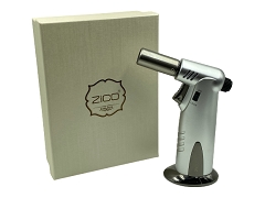 Zico Silver Single Flame Heavy Duty Torch Lighter Silver MT-35SL