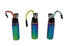 Rainbow Colored Shiny Finish Mini Glass Water Pipe (Buy 12ct Display Box $3.50 each)