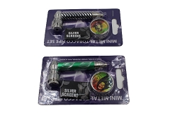 3 in 1 Metal Pipe, Screens & Grinder Set (Buy 12ct Box $2.40 each) 10856