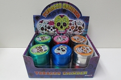 4 Part Candy Skull 55mm Grinder (Buy 12pc $4.50)