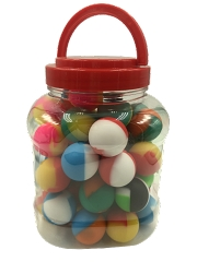 Silicone Ball Containers Assorted Colors 50ct Jar