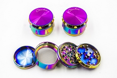 56mm 4 Part Rainbow Heavy Metal Grinder MG-005G ( Buy 6 pc $ 7.99 Each )
