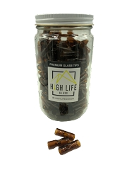 High Life King Size 11mm Amber Colored Glass Tips 175ct Jar ($0.34 each)