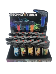 Techno Torch DragonBall Mixed Designed 1 Flame Torch Lighters 15ct Display Box DB