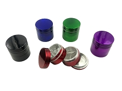 32mm 4 Part Solid Colored Aluminum Grinder