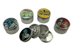 50mm 4 Part Multi Colored Dotted Aluminum Grinder