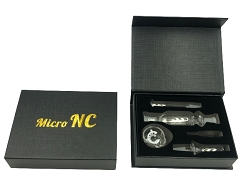 10mm Clear Nectar Collector w/ Glass Tray, Clip, Titanium & Quartz Tip (Black Case) (Buy12pc or more $7.99 each)