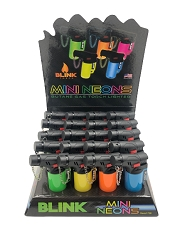 Blink Mini Neon Torch Lighters 20ct Display Box #728