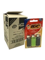 Bic Mini Lighters 1 Dozen 3 Packs (36ct Lighters Box)