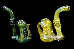 208Gr. All Tube Shiny Horns Rings Glass Bubbler