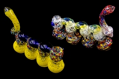 525Gr. Frosty Colored 4 Chamber Glass Bubbler