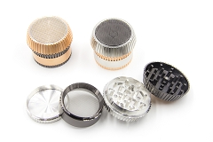 56mm 4 Part Colored Designed Metal Grinder MG-036 ( Buy 6 Pc $ 7.99 Each )