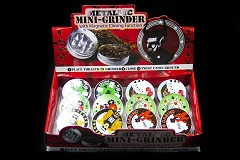 2 Part Colored Metal Poker Grinder (Buy 12pc Display $1.99 each) #6