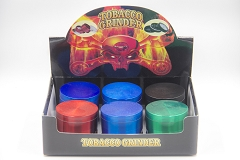4 Part Solid Colored Window Grinder (Buy 6pc Display Box $6.25 each) AA-310