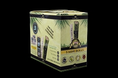5 Mini Rolls / Pouch w/ Boveda - 15 Units Per Display Box King Palm