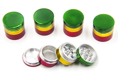 32mm 4 Part Rasta Grinder (Buy 6pc $1.65)