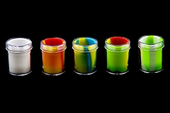 35ml 49mm Tall Clear Plastic Outside Silicone Inside Container (Mixed Colors)