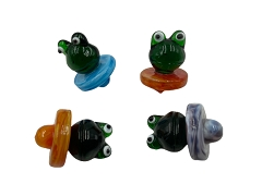 Mixed Colored Frog Glass Carb Cap