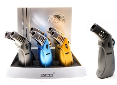 Zico Mixed Colored Angle Jet Torch Lighter 6ct Display ZD-73