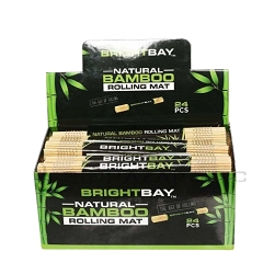 Brightbay Natural Bamboo Rolling Mat 24ct Display Box