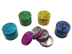 42mm 4 Part Multi Colored Dotted Aluminum Grinder