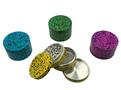 63mm 4 Part Multi Colored Dotted Aluminum Grinder