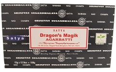 Nag Champa 15gms 12 packs/box Dragons Magik Incense
