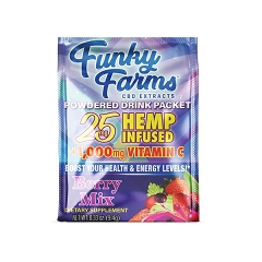 Funky Farms 25mg CBD BERRY Mix Drink Packet (Buy 24ct Display Box $1.99 each)