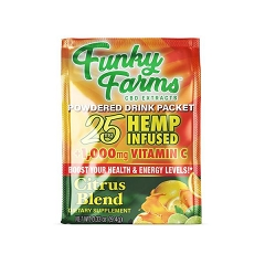 Funky Farms 25mg CBD CITRUS Blend Drink Packet (Buy 24ct Display Box $1.99 each)