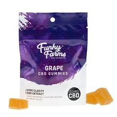 Funky Farms 50mg CBD Gummies GRAPE 5pk