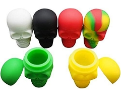 15ml 35mm Mixed Colored Skull Silicone Container