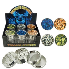 51mm 4 Part Camo Design Aluminum Grinders (Buy 12ct Display Box for $3.25 each) GR042-FCM