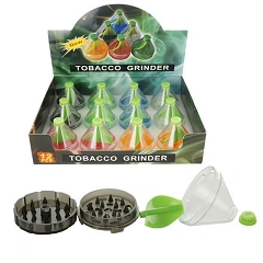Assorted Plastic Colored Funnel Grinders (Buy 12ct Display Box for $1.99 each) GR157
