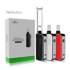 Airistech HerbvaX Vaporizer w/ GLASS BUBBLER Kit for HERB (Mix Colors-Black, White & Red)