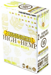 High Hemp Organic CBD Blunt Wraps 25ct (Banana)