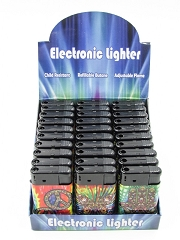 Mix Image Regular Flame Mega Lighter 30ct Display J9036-MIX