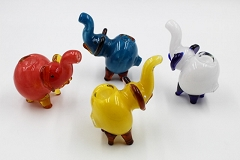 100Gr. Solid Colored Elephant Glass Animal Pipe